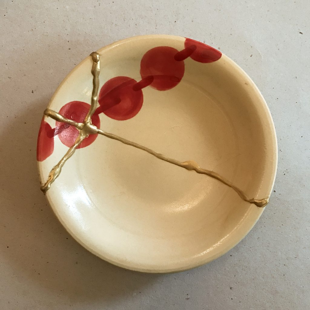 colourliving blog // kintsugi at the House of St Barnabas // repaired bowl